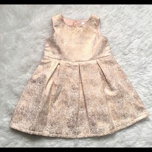 Rose Gold shimmery baby Christmas dress